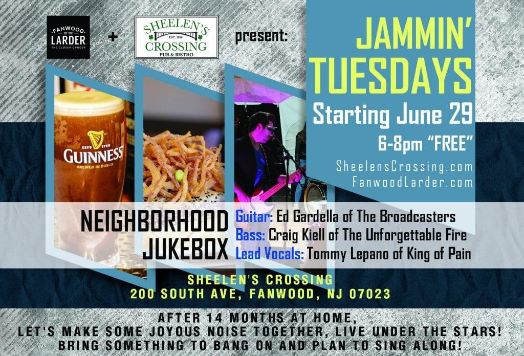 Jamin Tuesdays at Sheelen's Crossing, Fanwood NJ